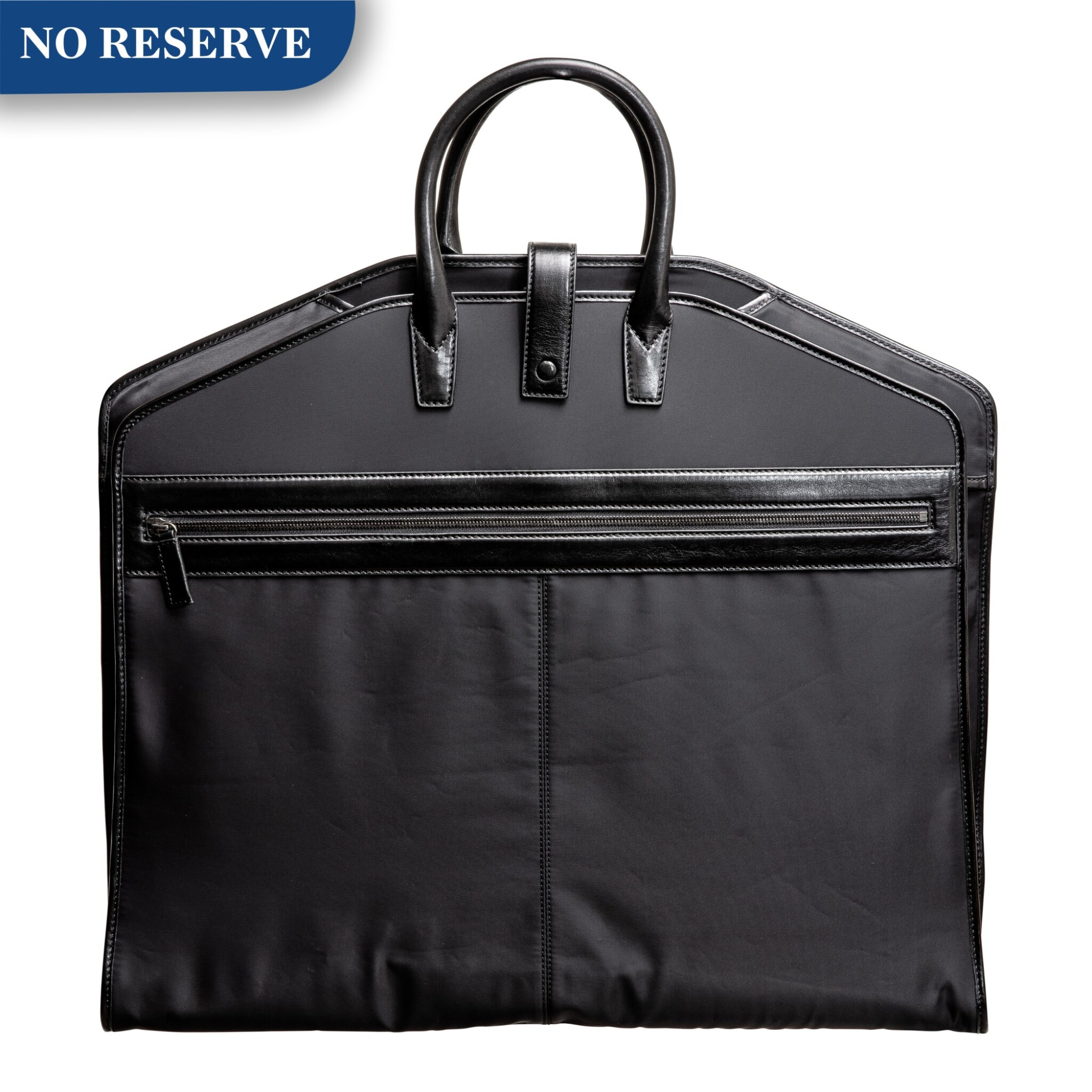 View full screen - View 1 of Lot 617. A. LANGE & SÖHNE | A BLACK LEATHER AND POLYFABRIC GARMENT BAG, CIRCA 2012.