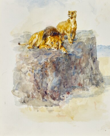 VARIOUS ARTISTS |  A commemorative album comprising approximately fifty two watercolours, drawings and manuscripts accompanied by a collection of letters relating to the commission for 'The War Seal Foundation'