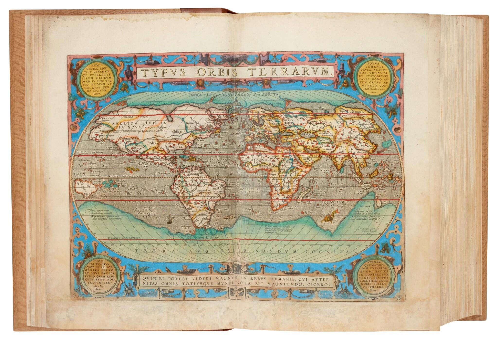 View full screen - View 1 of Lot 50. Abraham Ortelius | Theatrum orbis terrarum, 1595.