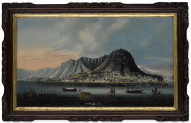 View 1. Thumbnail of Lot 1196. A VIEW OF HONG KONG FROM THE HARBOR QING DYNASTY, 1860S | 清 1860年代 香港維多利亞港遠眺 油彩 裝框.