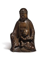 A CHINESE WOOD FIGURE OF SONGZI GUANYIN QING DYNASTY, 18TH / 19TH CENTURY