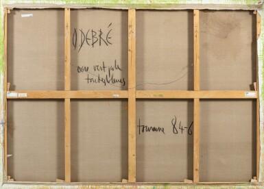 View 3. Thumbnail of Lot 528. OLIVIER DEBRÉ  |  OCRE VERT PÂLE TACHES BLEUES.