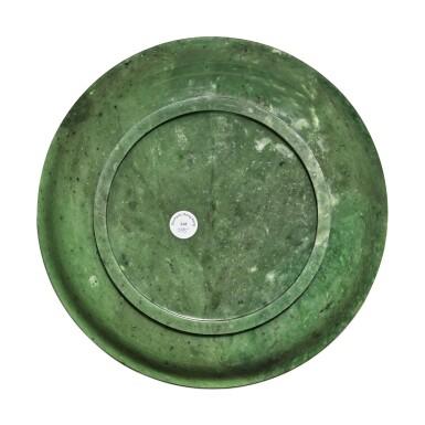 View 2. Thumbnail of Lot 161. A spinach green jade dish, Qing dynasty.