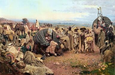 GUSTAVO SIMONI | THE HALT OF THE CARAVAN