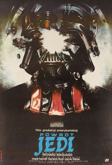 RETURN OF THE JEDI / POWROT JEDI, FIRST POLISH RELEASE POSTER, STYLE B, WITOLD DYBOWSKI, 1984