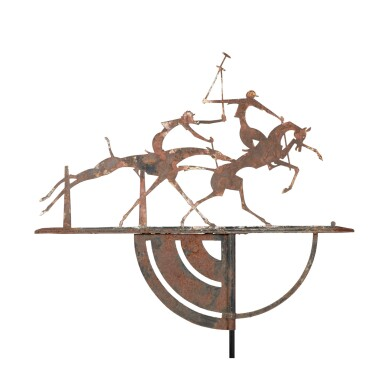 RARE POLO PLAYERS SHEET IRON WEATHERVANE, WILLIAM HUNT DIEDERICH (1884-1953), NEW YORK, CIRCA 1920-29