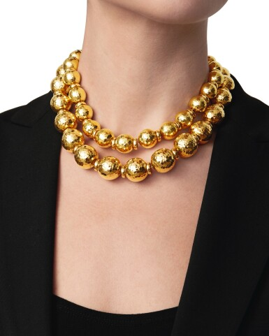 David Webb | Pair of Gold Necklaces