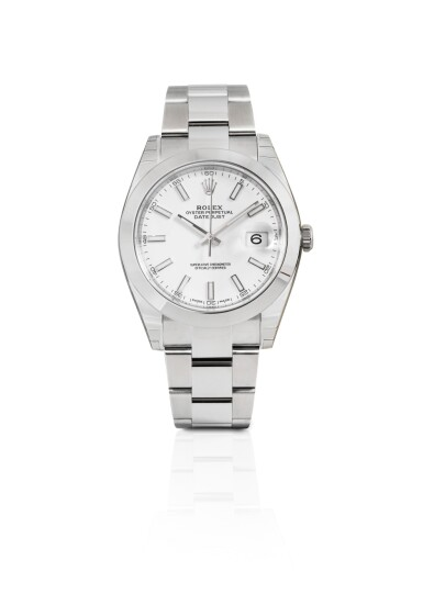 ROLEX | DATEJUST 41, STAINLESS STEEL WRISTWATCH WITH DATE AND BRACELET, CIRCA 2018 [DATEJUST 41, MONTRE BRACELET EN ACIER AVEC DATE]