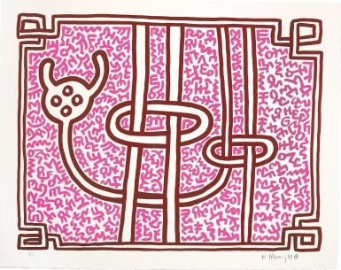View 5. Thumbnail of Lot 140. KEITH HARING | CHOCOLATE BUDDHA 1-5 (L. PP. 122-125).