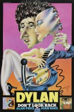 Don't Look Back (1967) poster, British, signed by Alan Aldridge