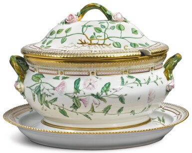 View 2. Thumbnail of Lot 150. A ROYAL COPENHAGEN 'FLORA DANICA' OVAL TUREEN, COVER AND STAND, MODERN.