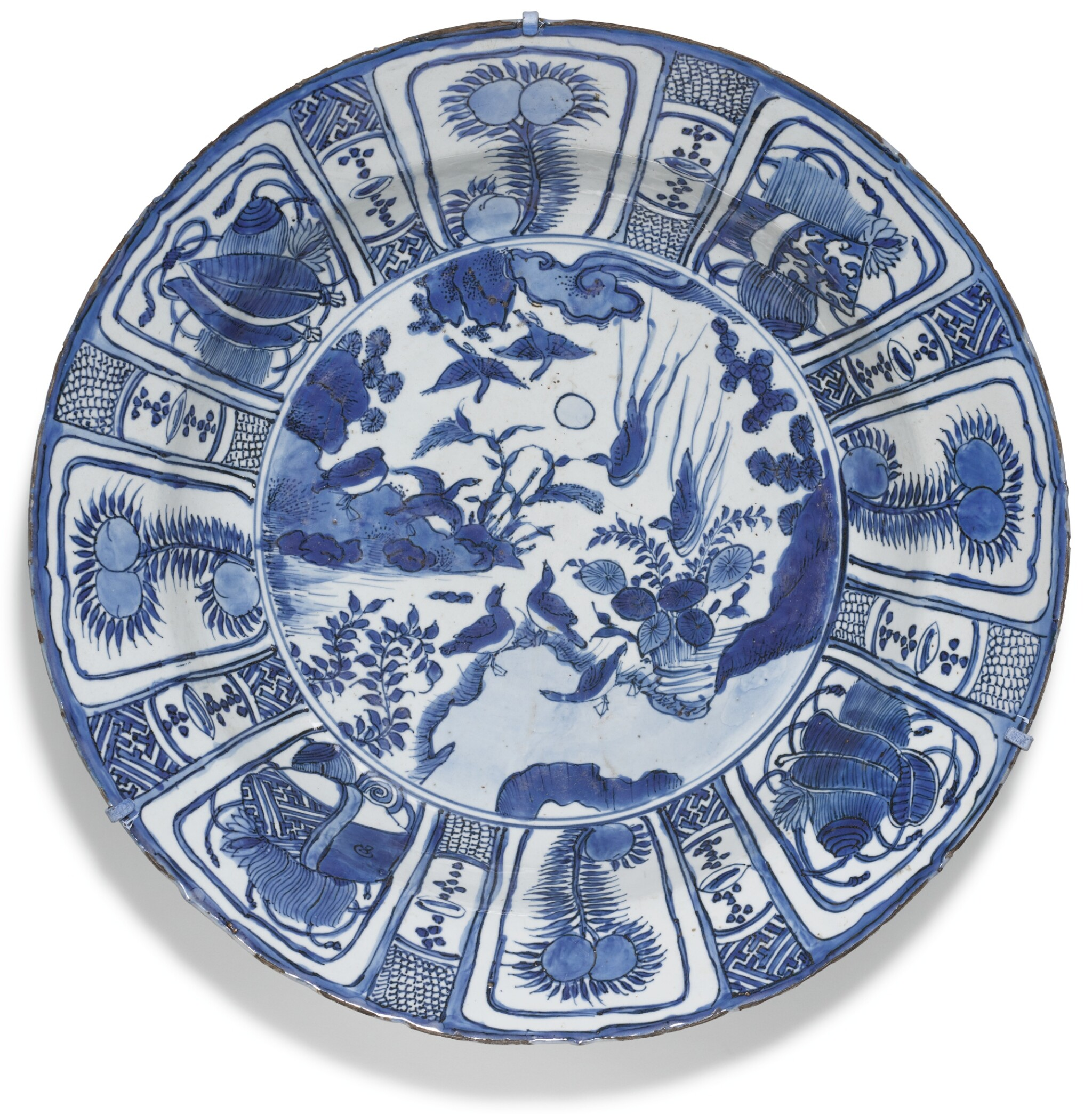 View full screen - View 1 of Lot 15. A LARGE BLUE AND WHITE 'KRAAK' DISH MING DYANSTY, WANLI PERIOD.