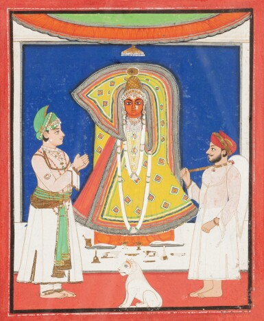 View 11. Thumbnail of Lot 35. RAJASTHAN, 19TH CENTURY | SEVEN INDIAN MINIATURES.