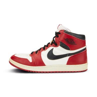 View 3. Thumbnail of Lot 803. Michael Jordan Game Worn 1985 Player Sample Air Jordan 1s   Sizes 13, 13.5.