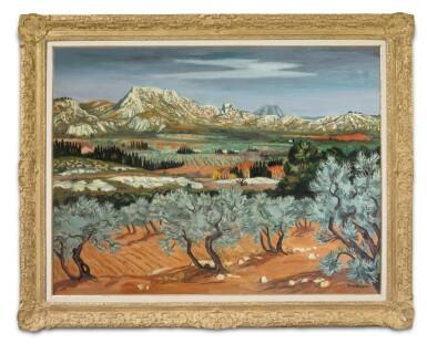 View 2. Thumbnail of Lot 35.  YVES BRAYER | OLIVIERS À MÉJEAN, LES BAUX-DE-PROVENCE.