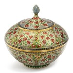 A fine enamelled gold bowl and cover, India, Rajasthan, Jaipur, 19th century