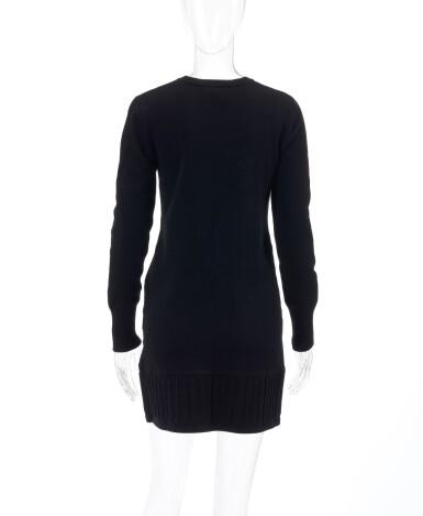 View 3. Thumbnail of Lot 34. Black cashmere-blend dress.