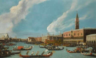 View 1. Thumbnail of Lot 206. Venice, the Bucintoro returning to the molo on Ascension day.