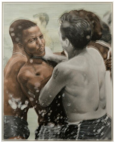 View 3. Thumbnail of Lot 133. Bradley McCallum & Jacqueline Tarry,  b. 1966, b. 1963 | Hand Over Fist: St. Augustine Beach Florida, June 20th, 1964 (After Unknown Photographer, Associated Press Wire, Buffalo State College Archives).