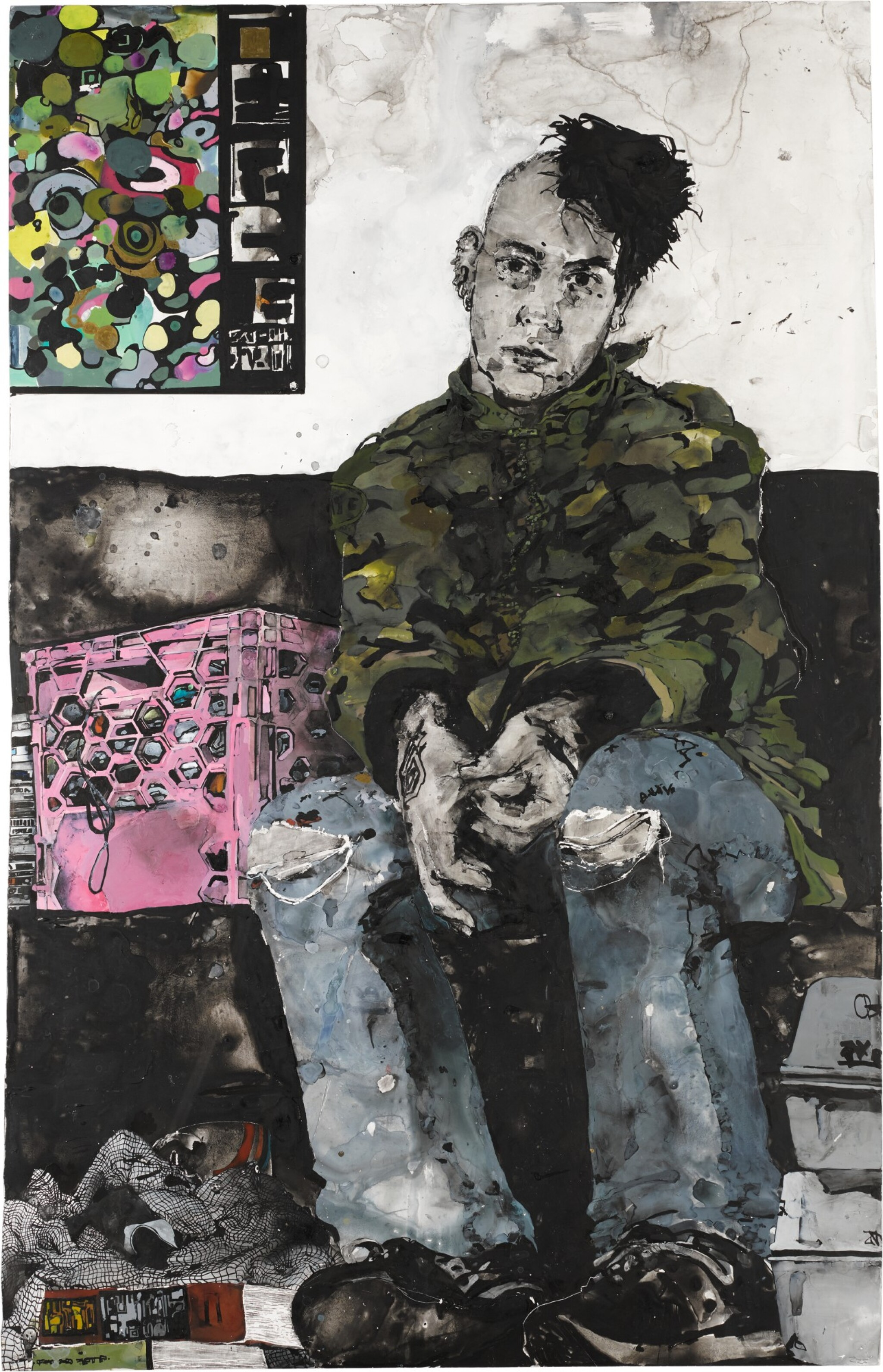 View 1 of Lot 77. Self Portrait in the Waiting Room.