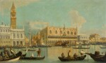FOLLOWER OF GIOVANNI ANTONIO CANAL, CALLED CANALETTO | Venice, a view of the Bacino di San Marco with the Palazzo Ducale and the Piazzetta
