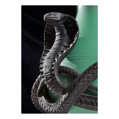 "View 2. Thumbnail of Lot 49. ""Cobra"" Covered Jar."