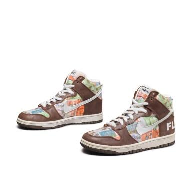 View 2. Thumbnail of Lot 1. Leonard Hilton McGurr 'Futura' | Nike Dunk High Pro SB 'FLOM' | Size 8.