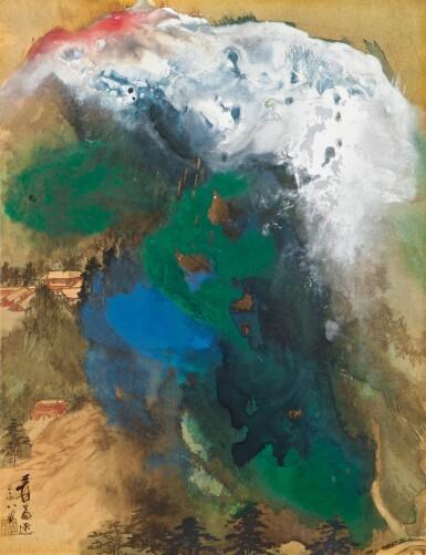 View 1. Thumbnail of Lot 2595. Zhang Daqian (Chang Dai-Chien, 1899-1983) 張大千   Snowclad Summits at Dusk 瓊峰雪擁圖.
