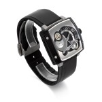 HAUTLENCE | REF HLS07   LIMITED EDITION PVD-COATED TITANIUM JUMPING-HOUR WRISTWATCH   CIRCA 2005
