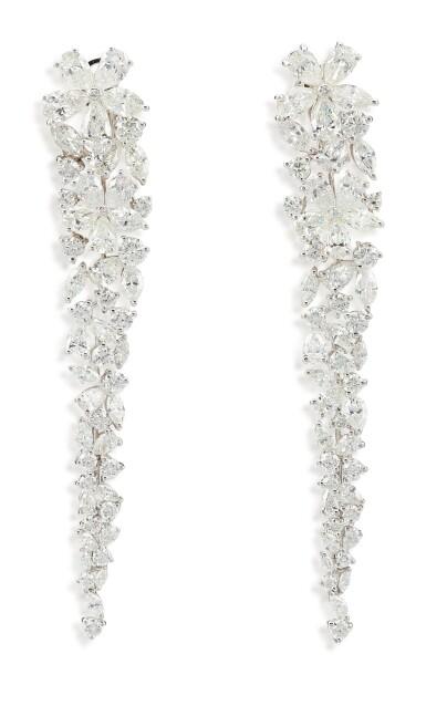 View 2. Thumbnail of Lot 1070. 'Carissa' Pair of Diamond Pendent Earrings | 格拉夫| 'Carissa' 鑽石耳墜一對 (鑽石共重約20.20克拉).