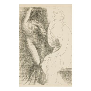 View 1. Thumbnail of Lot 149. PABLO PICASSO | FEMME NUE DEVANT UNE STATUE (B. 139; BA. 205).