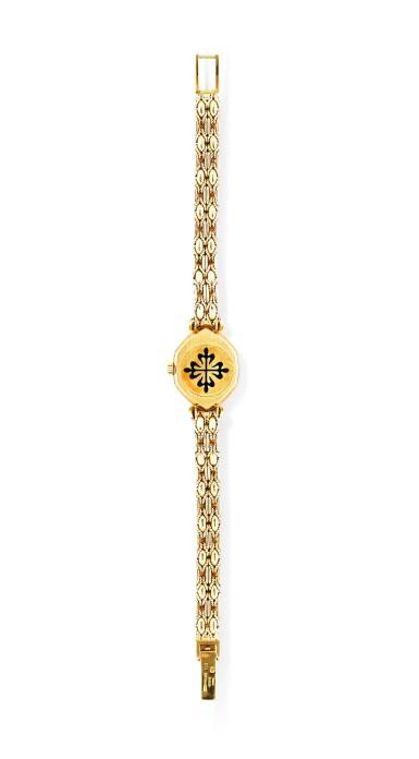 View 3. Thumbnail of Lot 121. Patek Philippe | Montre bracelet de dame or et diamants | Lady's gold and diamond bracelet watch.