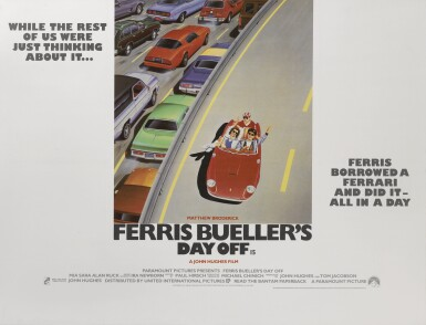 Ferris Bueller's Day Off (1986) poster, British