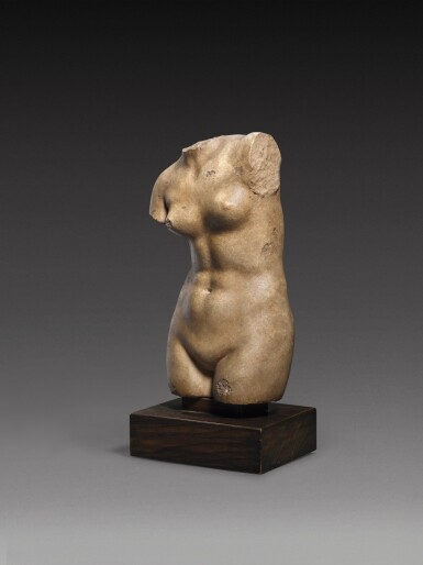 View 3. Thumbnail of Lot 30. A Hellenistic Marble Torso of Aphrodite Anadyomene, circa 2nd/1st Century A.D..