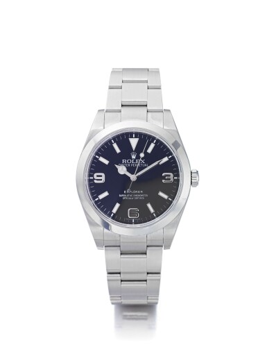 ROLEX | EXPLORER REF 214270, A STAINLESS STEEL AUTOMATIC WRISTWATCH WITH BRACELET CIRCA 2008