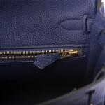 Hermès Bleu Encre Retourne Kelly 25cm of Togo Leather with Gold Hardware