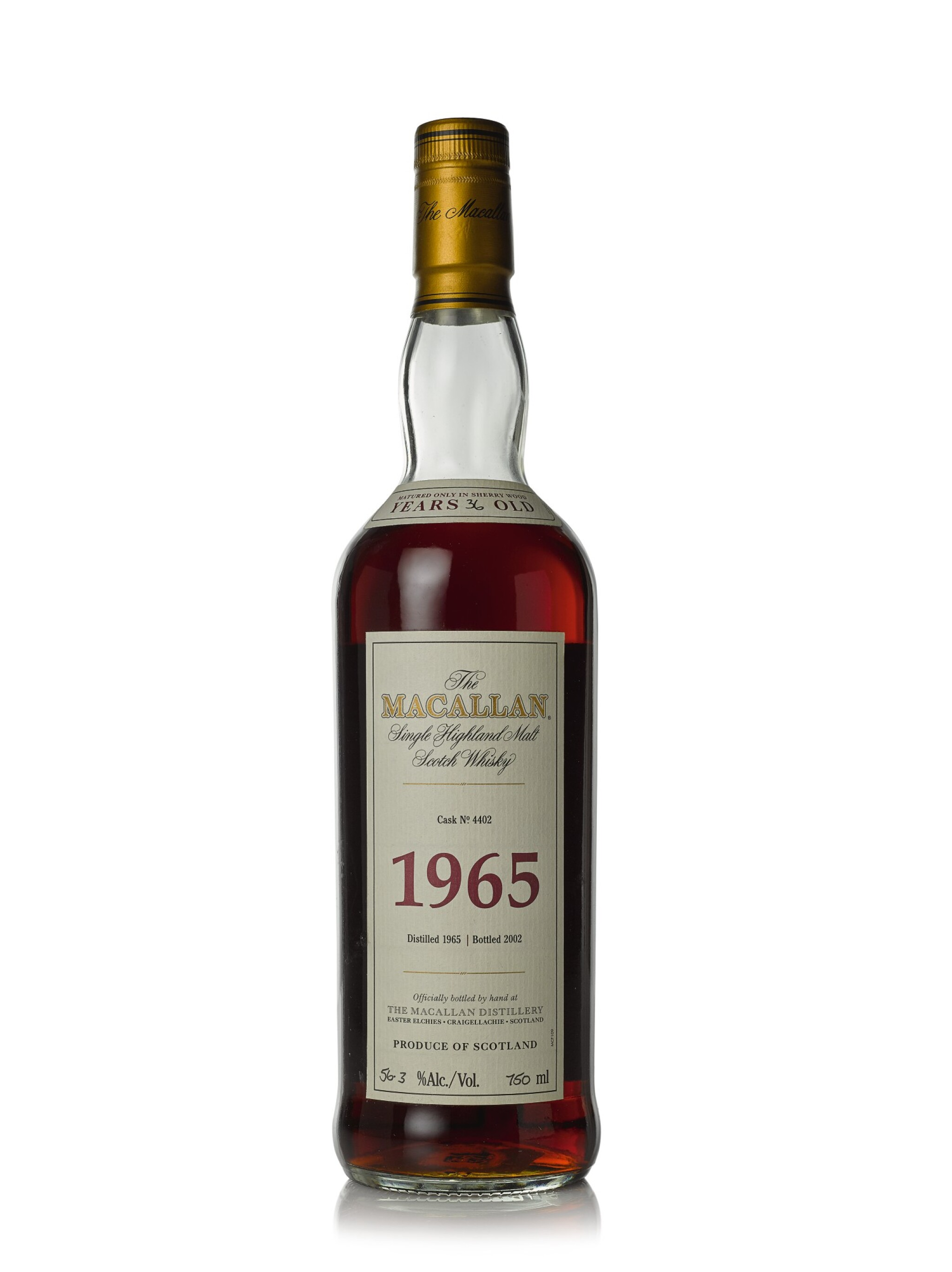 View full screen - View 1 of Lot 9. The Macallan Fine & Rare 36 Year Old 56.3 abv 1965 (1 BT75cl).