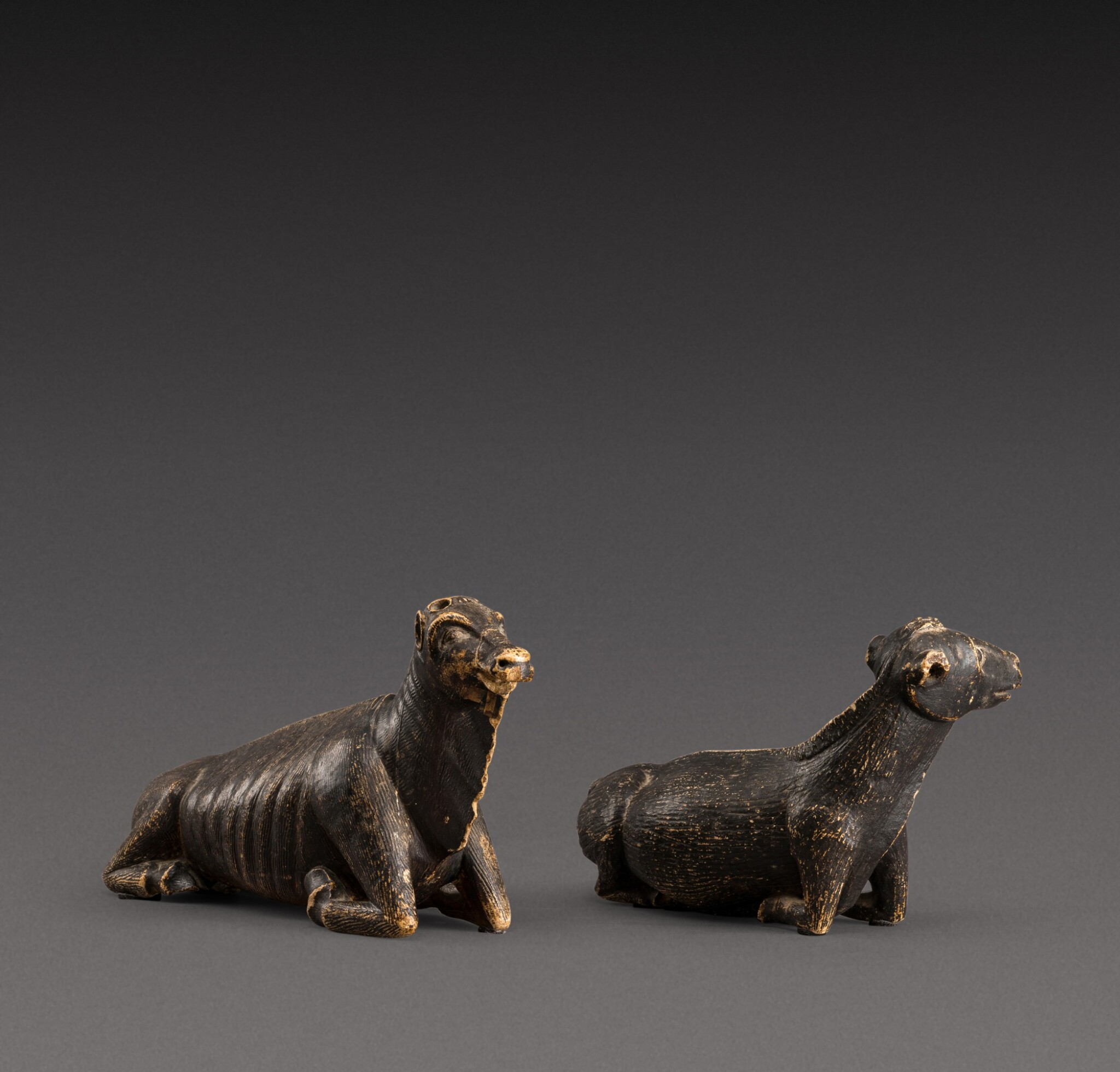 View 1 of Lot 157. Indo-European, possibly 17th century | Pair of Animals.