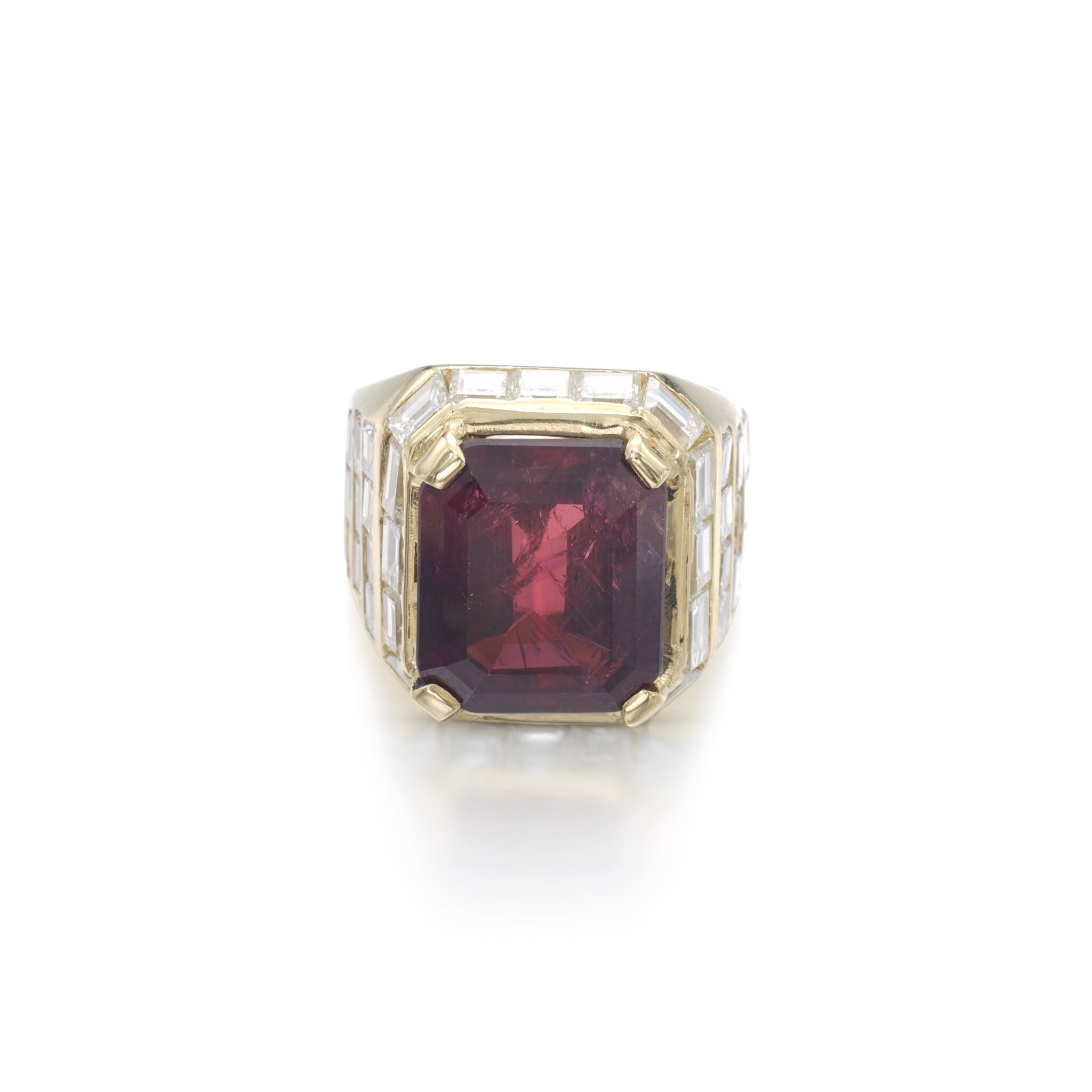 View full screen - View 1 of Lot 1203. Ruby and diamond ring.