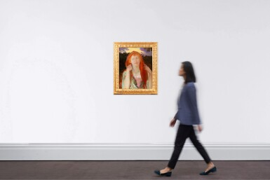 View 4. Thumbnail of Lot 222. Portrait of a red-haired woman, Ophelia .