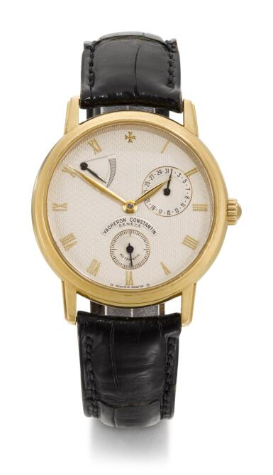 VACHERON CONSTANTIN | PATRIMONY, REFERENCE 47200/000J YELLOW GOLD WRISTWATCH WITH DATE AND POWER RESERVE INDICATION, CIRCA 2000