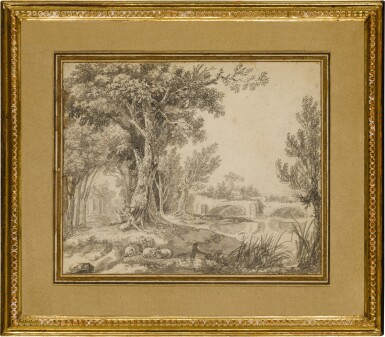 View 3. Thumbnail of Lot 150. A couple frolicking in parkland beside a river.