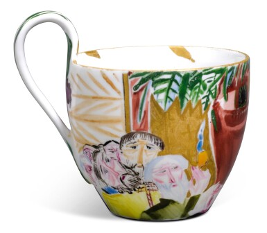 View 6. Thumbnail of Lot 155. Red Face: A Soviet porcelain cup and saucer, State Porcelain Factory, Petrograd, 1922.