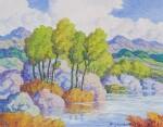 BIRGER SANDZÉN | LAKE IN THE ROCKIES