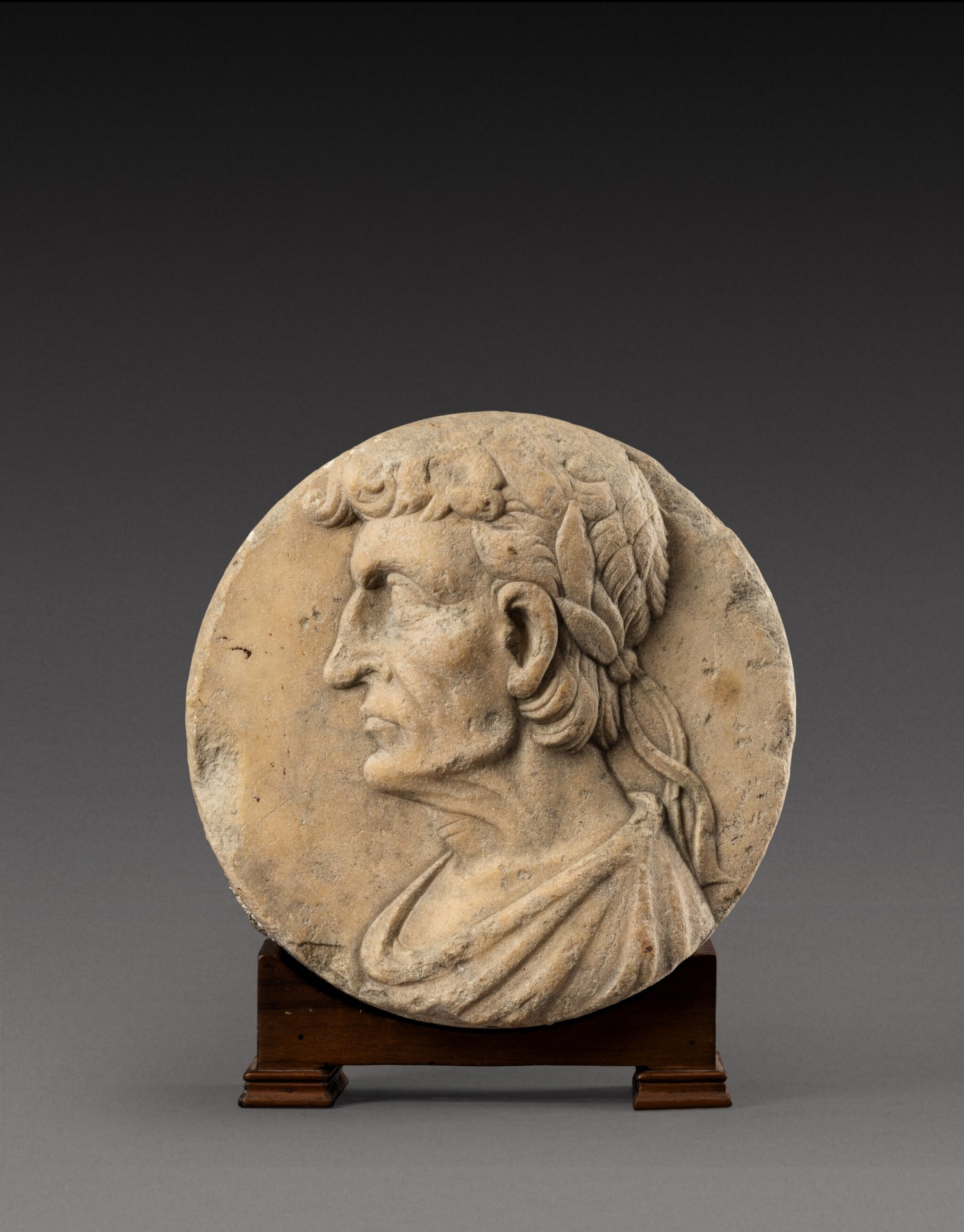 View 1 of Lot 134. Northern Italian, 16th century | Relief roundel with an Emperor.