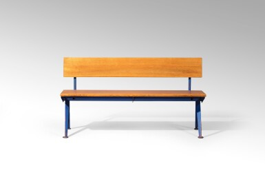 View full screen - View 1 of Lot 31. Marcoule bench, designed in 1955.