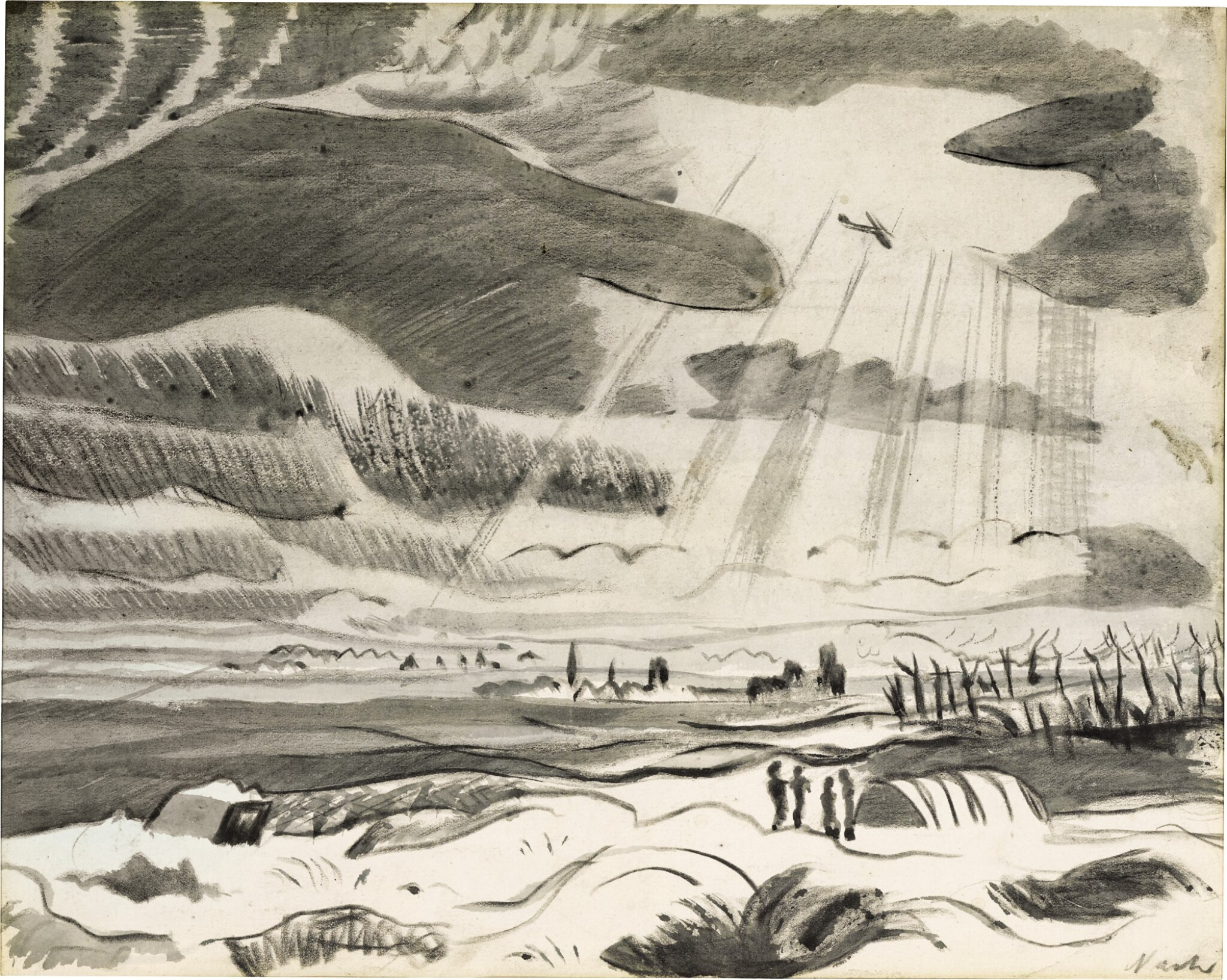 View 1 of Lot 613. PAUL NASH | AERIAL RECONNAISSANCE.