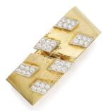GOLD AND DIAMOND BANGLE-BRACELET, DAVID WEBB