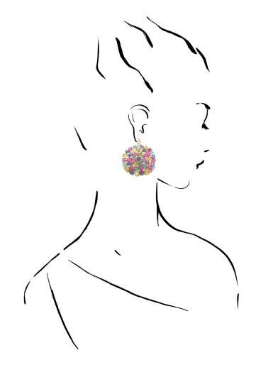 View 4. Thumbnail of Lot 37. MICHELE DELLA VALLE | PAIR OF GEM SET AND DIAMOND EARRINGS.