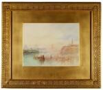 WILLIAM WARD | Venice: The Zitelle, Santa Maria della Salute, the Campanile and San Giorgio Maggiore from the Canale della Grazia, after Joseph Mallord William Turner, R.A.